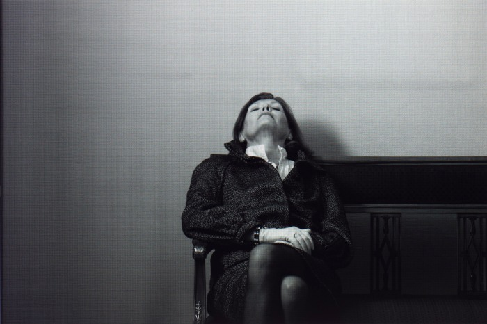 Morten Andenæs - BLACK AND WHITE IMAGE OF MOTHER PHOTOGRAPHED IN COLOUR, 2010. Courtesy of the artist and Galleri Riis.