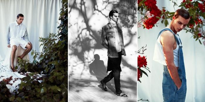 Bildene er utdrag fra Eivinds fanzine som han har laget på London College of Fashion.