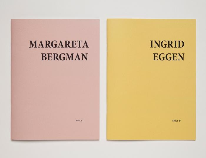 Med serien Angles 1-90° er ønsker utgiverne å lage små og lette, men likevel gjennomarbeidede trykksaker. Først ut er Margareta Bergman, Ingrid Eggen, Verena Winkelmann og Line Bøhmer Løkken.