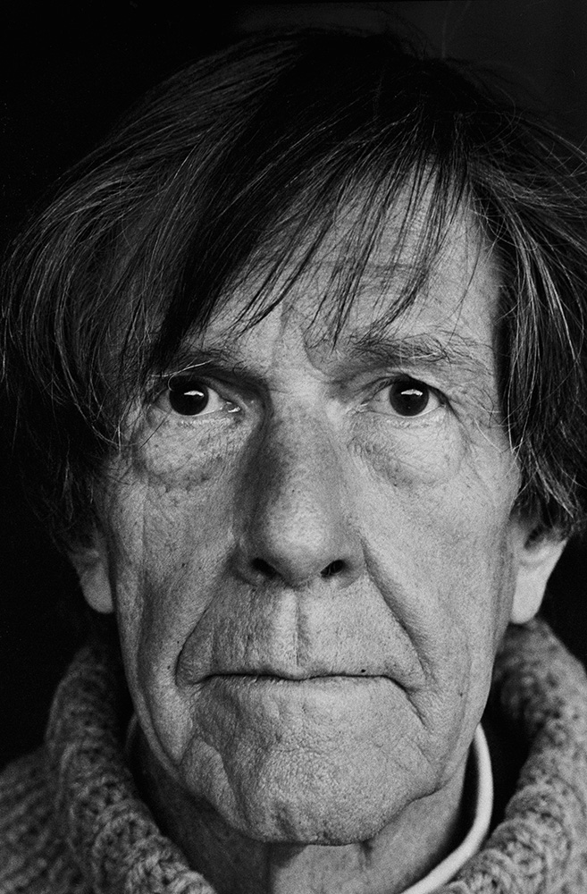 Tom Sandberg - John Cage, 1985, 180 x 120 cm, Courtesy: Tom Sandberg Estate.