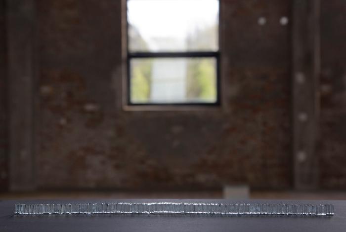 Andrea Johns –Speilmosaikk 2. Installasjonsbilde fra avgangsutstillingen på Röda Sten Konsthall.