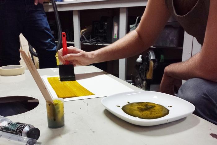 Fra workshop i alternative fototeknikker på Oslo Fotokunstskole.