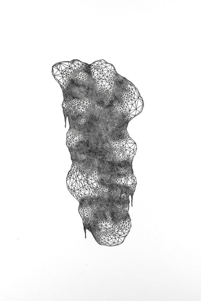 I tillegg til fotografi har Åsne benyttet tiden på Oslo Fotokunstskole til å utvikle seg innen tegning og tekst. Tegningen er fra ett av Åsnes prosjekter på skolen høsten 2015.