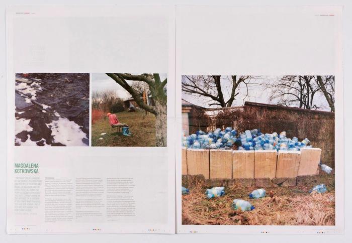 Oppslag i første utgave av Uncertain States Scandinavia med arbeider av Magdalena Kotkowska.