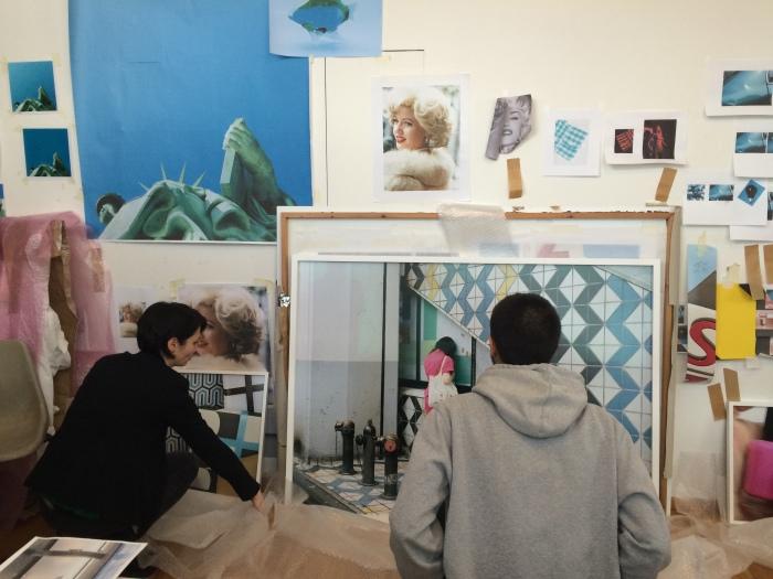 På atelierbesøk hos kunstner Viktoria Binschtok.