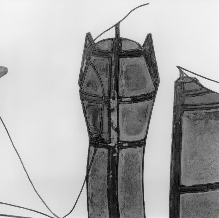 OFKS-lærer Espen Gleditsch deltar i utstillingen med prosjektet The Large Glass, A Close Reading (1961 + 1992). Bildet viser en detalj fra verket.